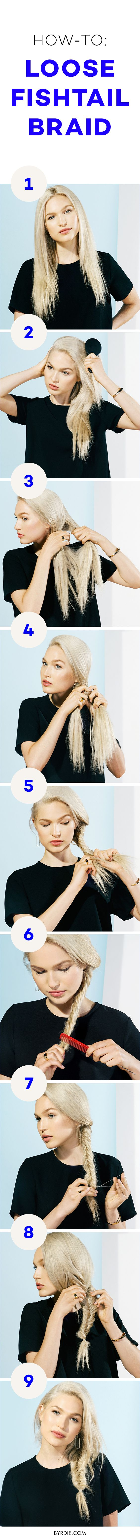 How to do a loose fishtail braid
