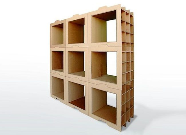 Designer Dany Gilles Came Up With An Unusual Solution To This Problem. He  Created DIY Modular Cardboard Bookcases That Are Cheap And Easily Movable.