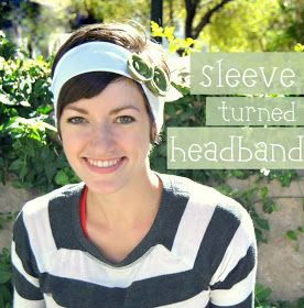 Maybe Matilda: T-Shirt Sleeve Refashioned to a Cute, Easy Headband