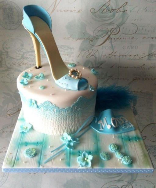 Teal Shoe cake