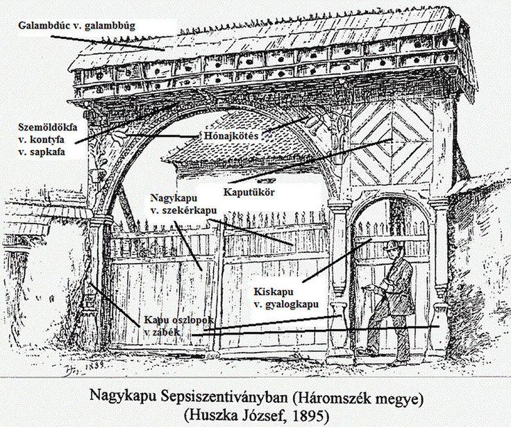 A kapu részei