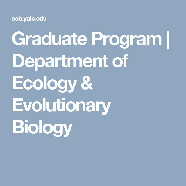 Graduate Program  | Department of Ecology & Evolutionary Biology