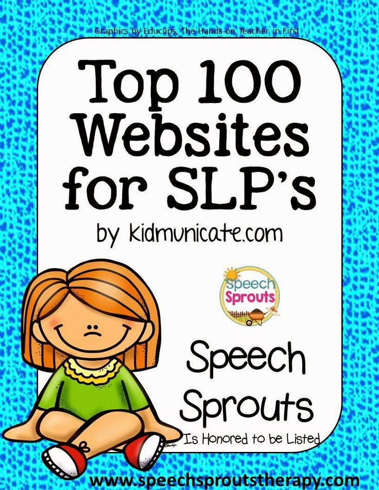 What are the Top 100 Websites for SLP's  in 2015? www.speechsproutstherapy.com is honored to be listed! You really should check out this amazing list by kidmunicate