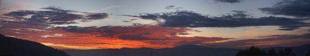 CleoStone - handicraft: Wschód słońca nad Żywcem - panorama.