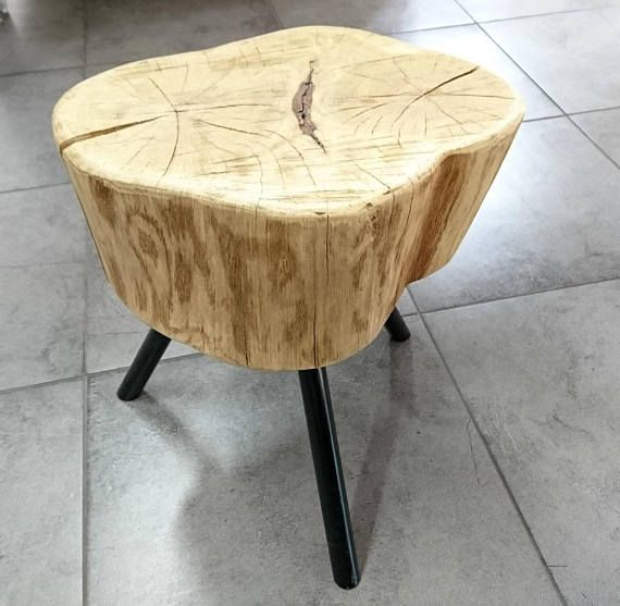 Rustic stool for Your living room. Made of Steel and Wood
