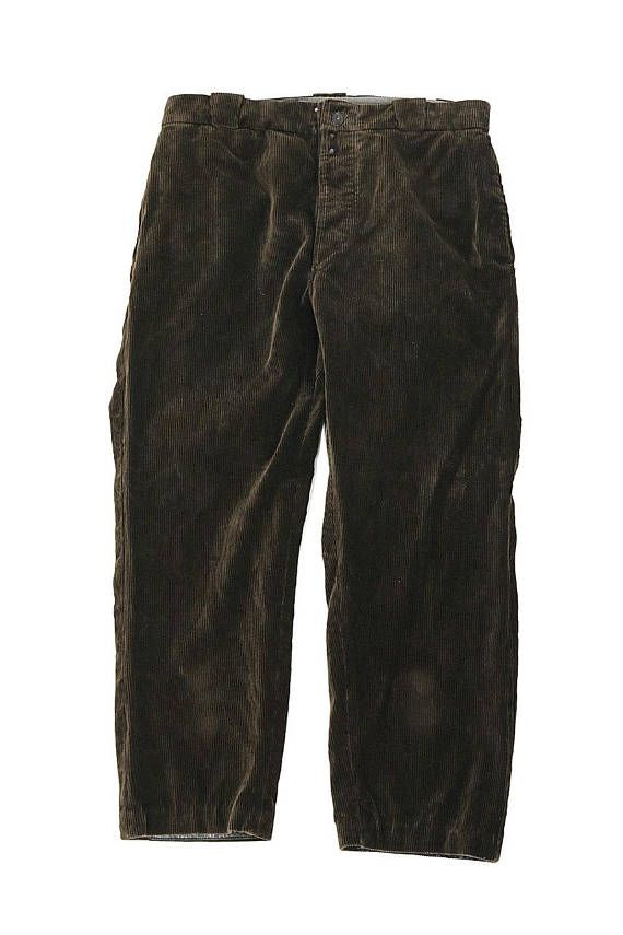 French vintage brown work pants/1950s France/chore