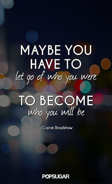 Focus on who you want to carve yourself into vs. the setbacks you've encountered.