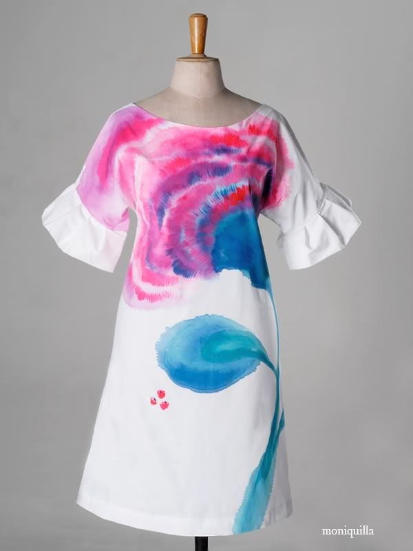 Vestidos pintados - painted dresses. by moniquilla · www.moniquilla.com. Puedes pedirlo en / You can order to: info@moniquilla.com