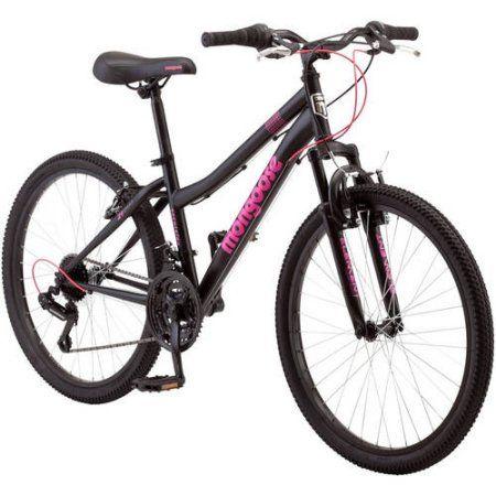 24 inch Mongoose Excursion Girls' Mountain Bike, Black
