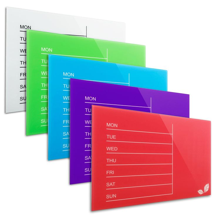 Glas Wochenplaner Lea | 5 Farben | 40x60cm | inkl. Neodym Magneten | Dayton.de