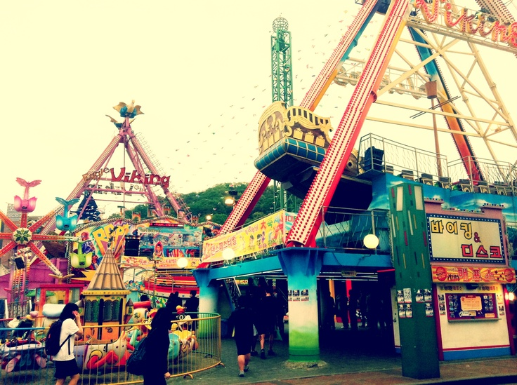 Retro Amusement Park at Wolmido, Incheon, South Korea