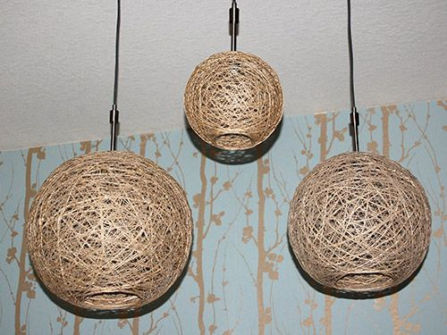 Hemp pendant lamps - Crafty Nest