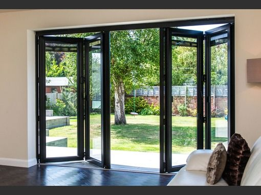 3990x2090 Grey Aluminium Bi-fold Door | Folding Doors 2 U
