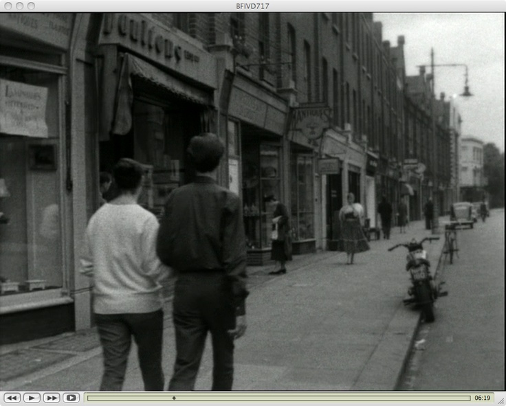 King's Road around 1955/6. A still grab from Food for a Blush released in 1959.
