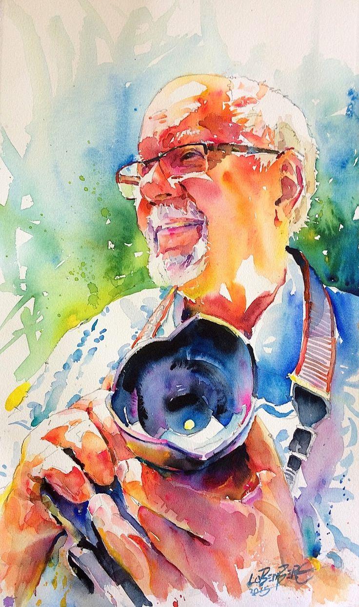 David Lobenberg: Three recent watercolor portraits                                                                                                                                                     More