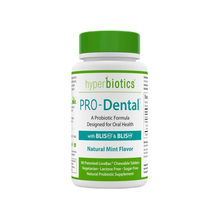 Hyperbiotics 90ct Pro-Dental Chewable Probiotic Tablets