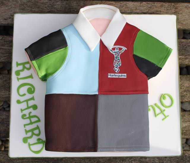 Harlequins rugby top cake -littlelovecakes.london