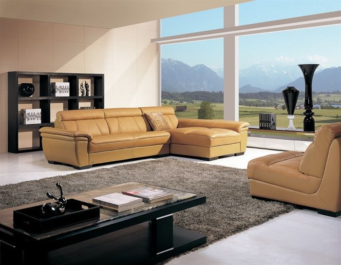 High End Curved Sectional Sofa In Leather Hialeah Florida [1632ZOHE] :  Prime Classic Design