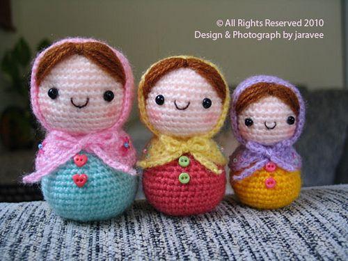 Amigurumi Russian Doll Pattern : Best crochet nesting dolls images amigurumi