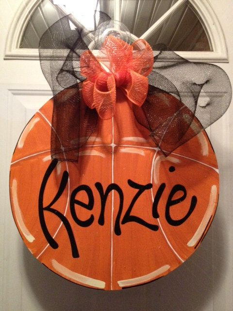 Door Hanger Wooden Door Hanger Basketball by SerendipityDoorFun, $30.00