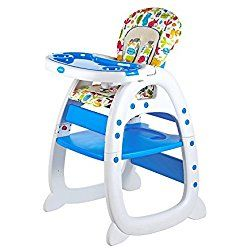 Evezo 2 in 1 High Chair Desk, Blue