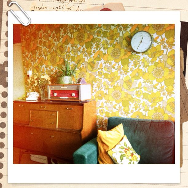 Our house. Still love the wallpaper!