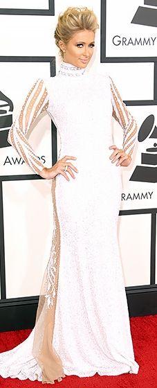 Paris Hilton wearing Haus of Milani @ 2014 Grammy Awards