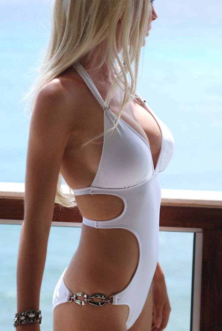 white swimsuit one piece