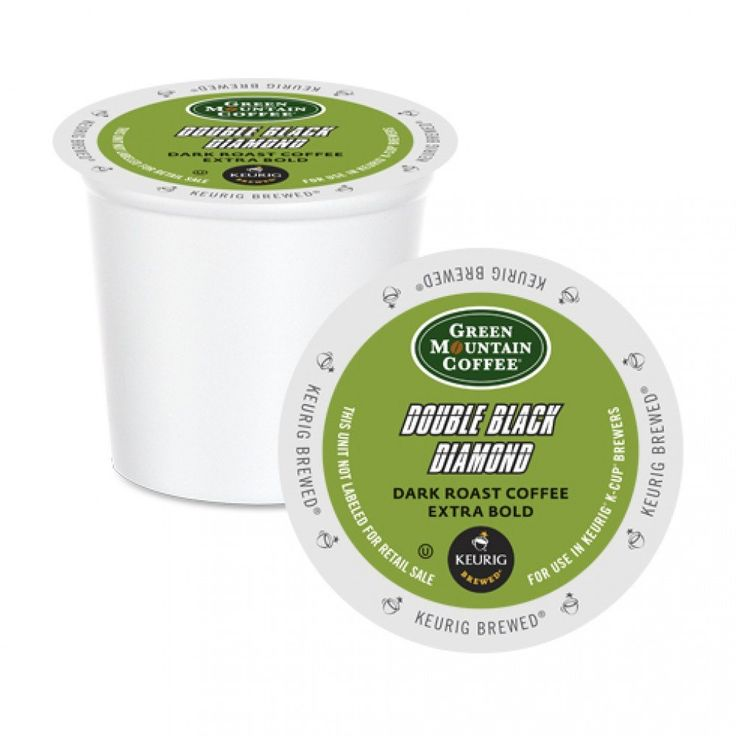 Green Mountain Double Black Diamond XB K-Cup® Pods 24 Pack   A dark and toasty flavoured heavy bodied coffee. Extra bold.... perfect to keep you awake for long study hours!! #students #dorm
