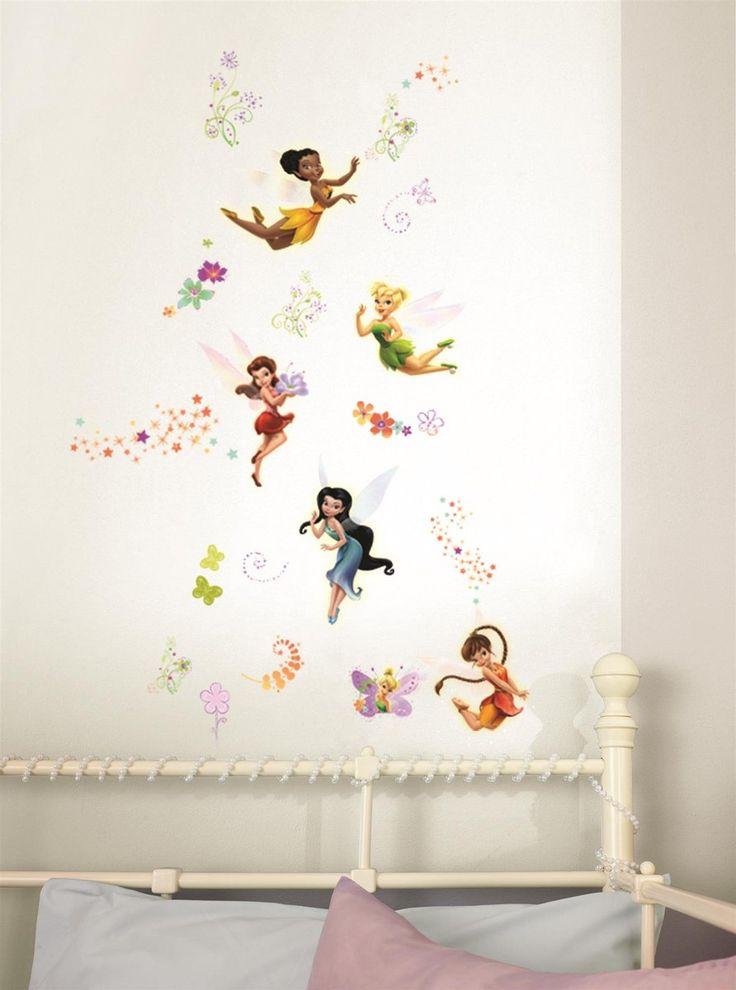 Fairies Muursticker (max 22,3x23,8 cm - min 4,4x4,4 cm)