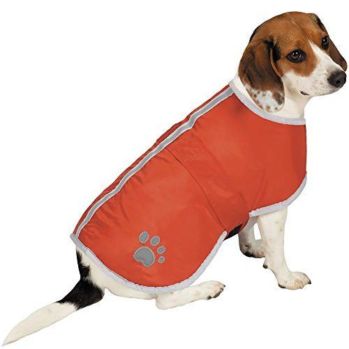 Zack & Zoey ThermaPet Forest Friends Reversible Thermal Nor'Easter Coats-Innovative Water-Resistant Coats for Dogs Designed to Keep Pets Warm Using Their Own Body Heat, Not Electricity