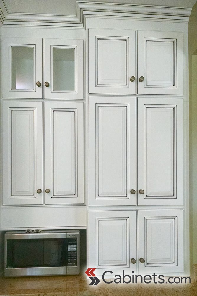 Cabinet Configuration With Plenty Of Storage Deerfield Assembled Youngstown Bright White Chocolate Glaze