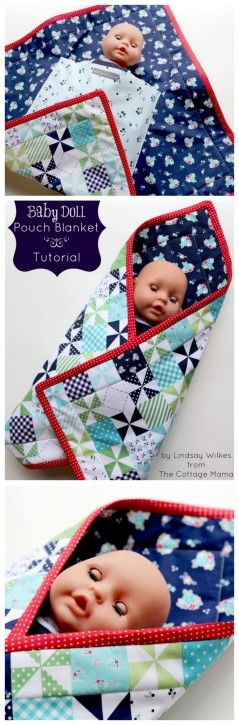 Baby Doll Pouch Tutorial and FREE Pattern from The Cottage Mama. Such a great idea!!