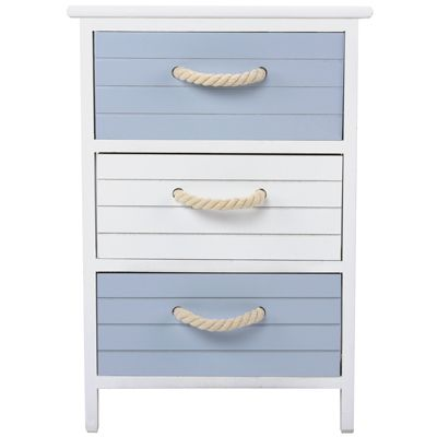 The 'Marino 3 Drawer Unit' is a great storage solution for the home, especially suited to bathroom storage due to the its nautical colour scheme and style, with the added feature of rope handles to accentuate the coastal design. £29.99 from The Range Online.