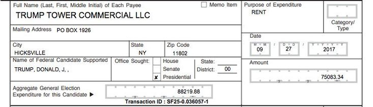 9 days after @GOP made its last $200,000 payment to Trump's private criminal lawyers, it made its first $75,000 payment to Trump's company — for 2 months rent in Trump Tower.   Here's the receipt >>   cnbc.com/2018/02/23/rnc…