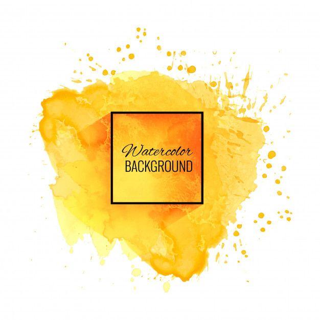 Descarga Gratis Elegante Fondo Amarillo Suave Acuarela Em 2020