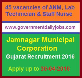 NUHM JAMNAGAR RECRUITMENT 2016 APPLY FOR 45 STAFF NURSE & OTHER POSTS ~ Government Daily Jobs