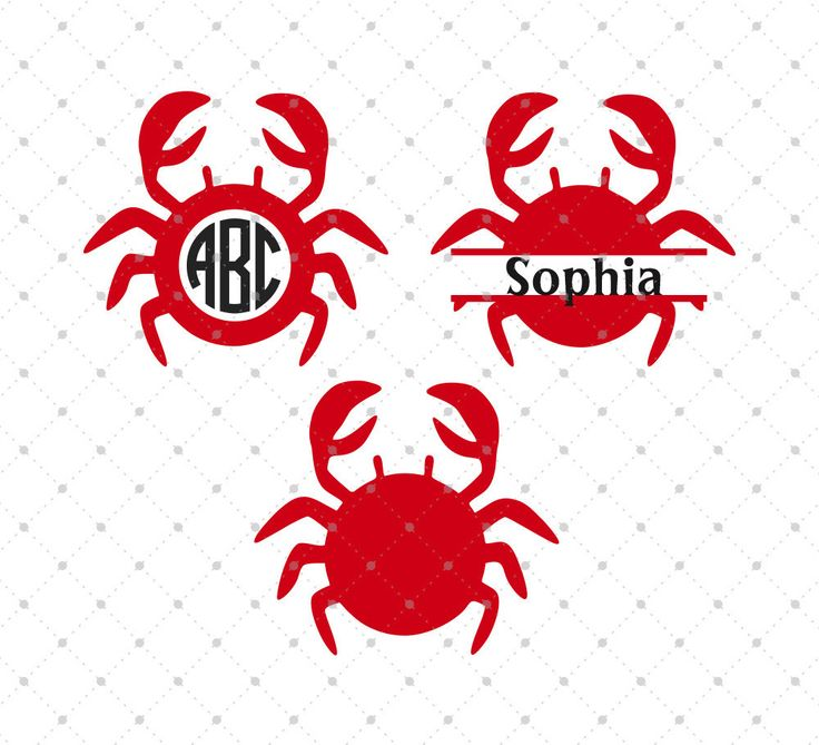 Crab Svg Cut Files For Cricut And Silhouette Crab