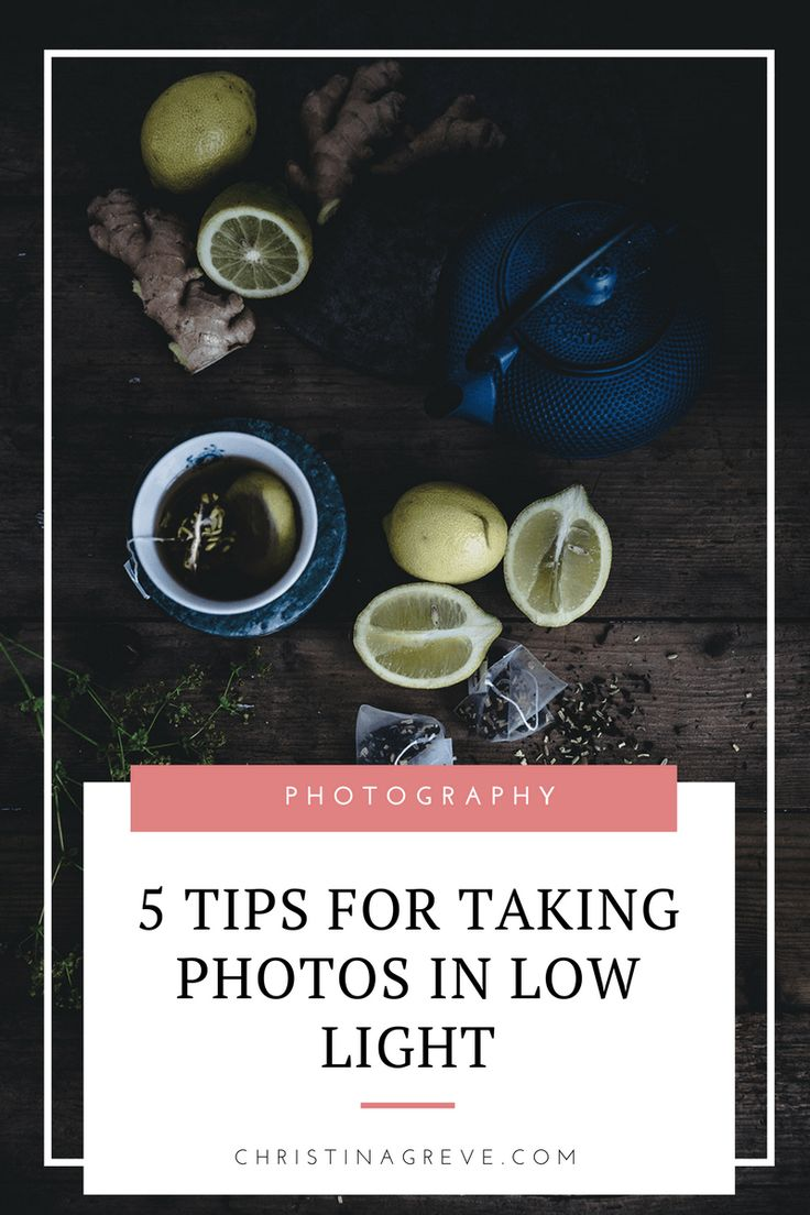 Five Tips for Taking Photos in Low Light