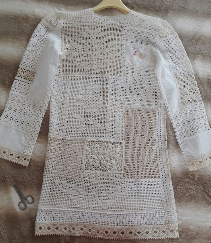 Filet Patchwork crochet Tunic