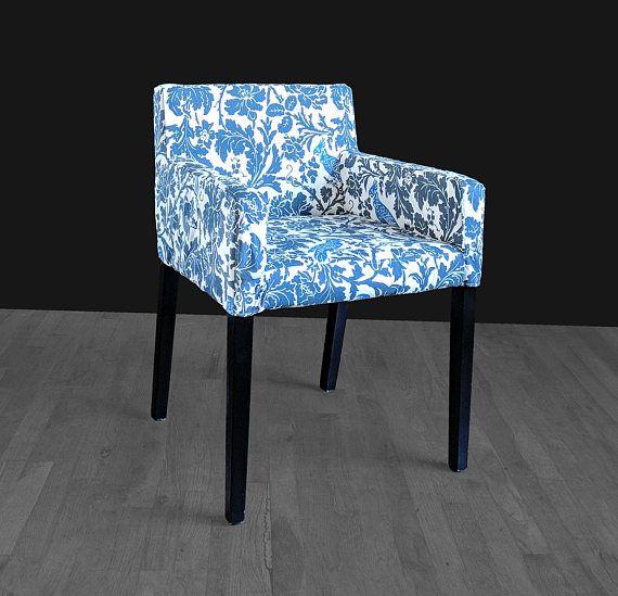 Custom Cockatoo Blue IKEA NILS Chair Slip Cover  Unique