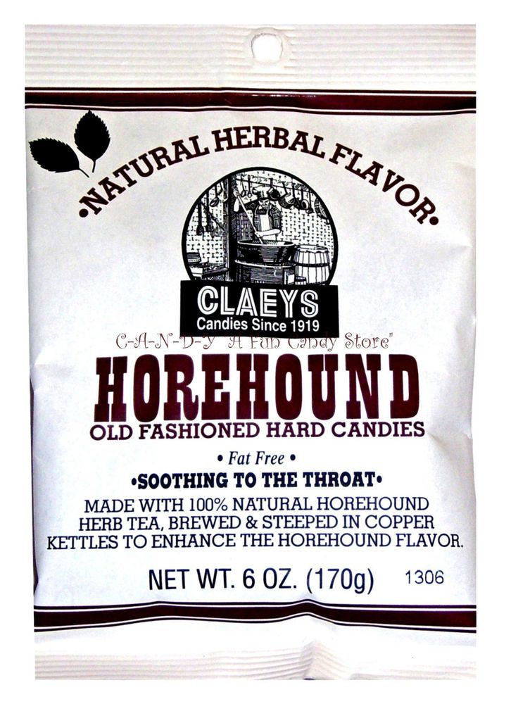 HOREHOUND CANDIES - OLD FASHIONED HARD CANDY DROPS - 6oz bag - Nostalgic Sweets #OldFashionedHorehoundDrops