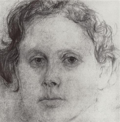 Portrait of O. Trubnikova - Valentin Serov