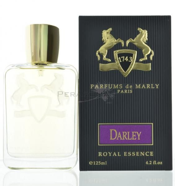 Parfums De Marly Darley by Parfums De Marly for MenEau de Parfum 4.2 oz 125 ml spray  Parfums De Marly Darley for Men. Fragnarce notes are lemon, bergamot and mint. Heart: rose, orange blossom, lavender, rosemary and cinnamon. Base: sandalwood, guaiac wood, patchouli, amber and tonka.  Buy @ www.peraroma.com