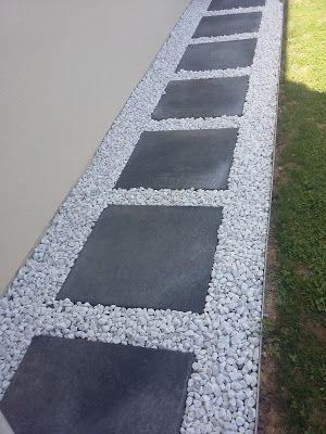 Cobblestone driveway gravel not japanese plate gray decorative white edge