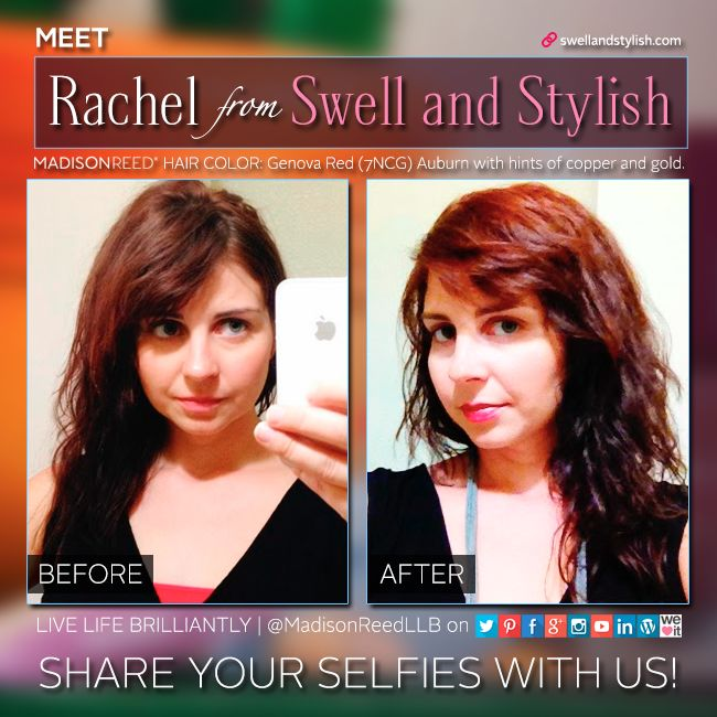 Rachel From Swell And Stylish Wanted A Refresh On Her Current Haircolor And Genova Red Was Her
