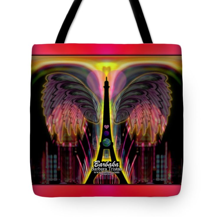 "Prayers for France 1 Tote Bag 18"" x 18"" by Barbara Tristan"
