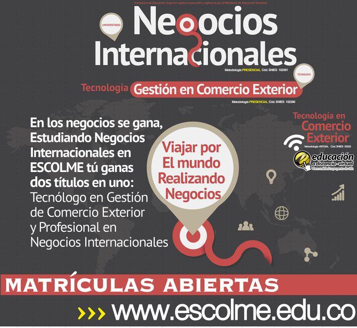 Viajar por el mundo realizando negocios, Así es el perfil del negociador internacional de ESCOLME. Cliquéame para inscribirte http://bit.ly/1SrJ8MK o ingresa a www.escolme.edu.co Matrículas abiertas.