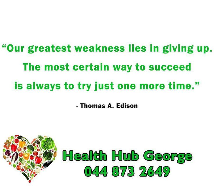 """Our greatest weakness lies in giving up. The most certain way to succeed is always to try just one more time."" - Thomas A. Edison #SundayMotivation #HealthHub"