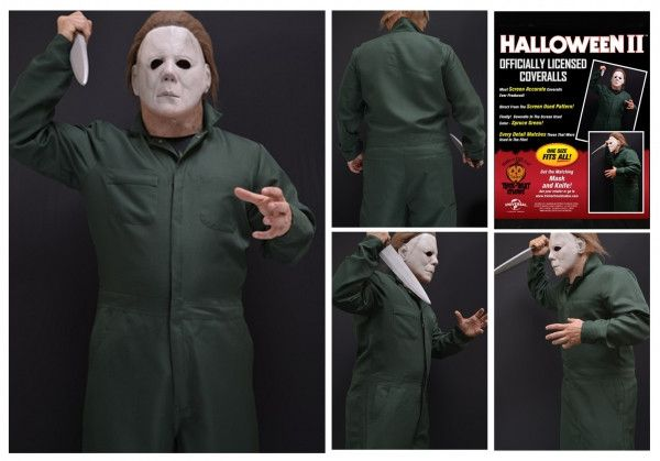 Official Halloween II Michael Myers Deluxe Coveralls Costume Trick or Treat